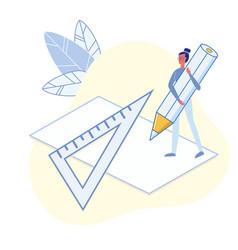 University maths lesson flat vector