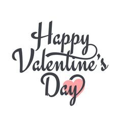valentines day vintage lettering valentine sign vector image