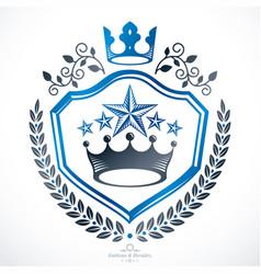 vintage award design vintage heraldic coat of vector image