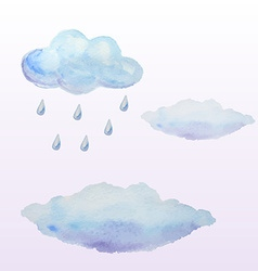 Watercolor clouds vector image