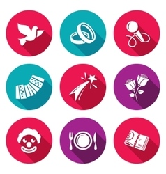 Wedding Agency Icons Set vector image