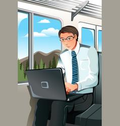working businessman vector image