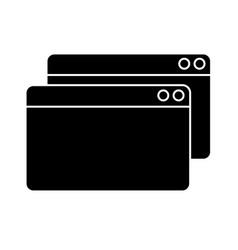 Contour digital windows website data information vector
