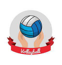 emblem volleyball game icon vector image vector image
