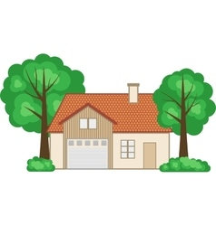 Flat style family house vector image