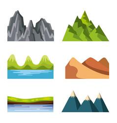 Icons set landscape vector