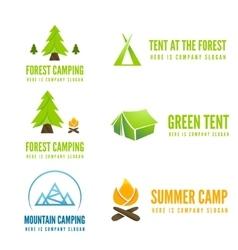 Set of modern camp badges logo emblem and vector image
