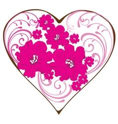 swirl heart vector image vector image