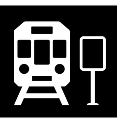 train station sign vector image vector image