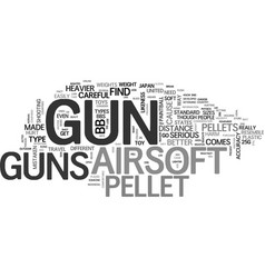 what you need to know about airsoft guns text vector image vector image