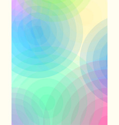 abstract circles of color and transparency vector image vector image