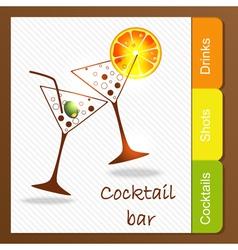 Alcohol bar vector image vector image