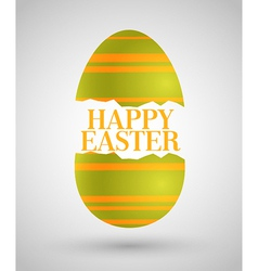 Happy Easter background with egg vector image vector image