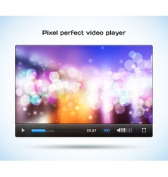 Pixel perfect video player for web vector