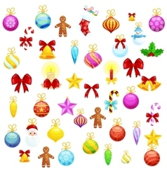 Set of isolated Christmas decoration for Merry vector image vector image