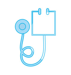 Silhouette medical stethoscope tool and cardiology vector