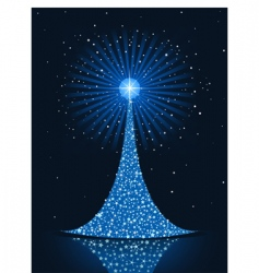 stylized Christmas tree background vector image vector image