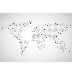 abstract world map of dots vector image vector image