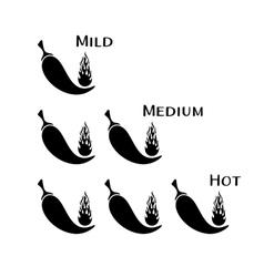 Black chilli peppers vector image vector image