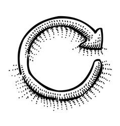 cartoon image of refresh vector image vector image
