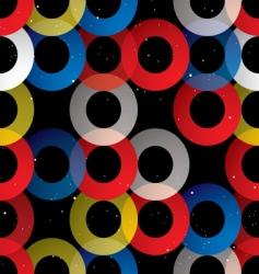 circular seamless tile black vector image vector image