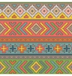 Folk ornamental textile seamless pattern vector image vector image