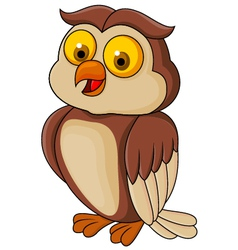 Funny owl cartoon vector