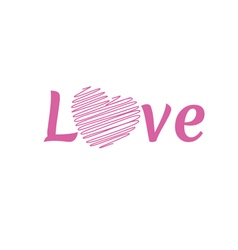 LOVE Happy Valentines day font type vector image