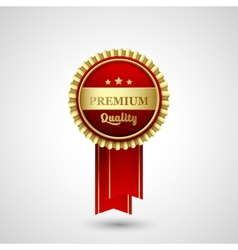 Premium Quality Badge Label vector image