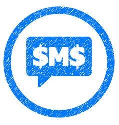 sms bubble rounded grainy icon vector image vector image