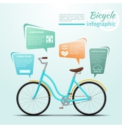 Bicycle or bike related fitness and sports vector image