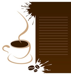 coffee template vector image