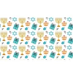 Hanukkah seamless pattern Hanukkah background vector image