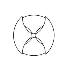 shield game icon vector image