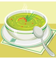 Split pea soup vector image vector image