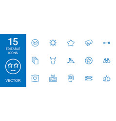 15 icons vector