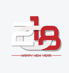 2018 happy new year crisscross white vector image