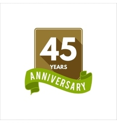 45 years anniversary badge sign and emblem vector image