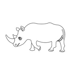 A large indian rhinoceros a wild animal a vector