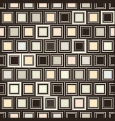 Abstract geometric form pattern square ornament vector