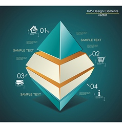 Abstract Infinite Rhombus logo template Corporate vector image