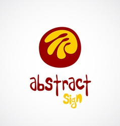 Abstract logo template Unusual sign vector image