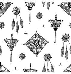 abstract vintage hand drawn pattern vector image