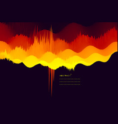 abstract wavy background dynamic effect vector image