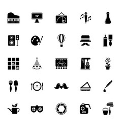 Art activity icons on white background vector image