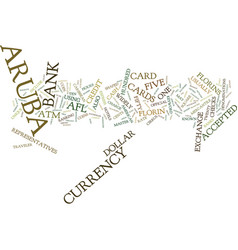 Aruba currency text background word cloud concept vector