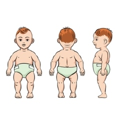 Baby poses vector image