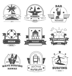Beach Label Set vector image