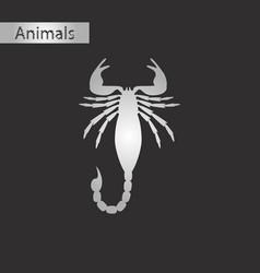 Black and white style icon of scorpio vector