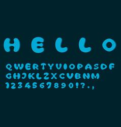 blue font template simple design vector image